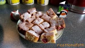 raspberry and white chocolate bake