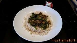 chick pea, mushroom and spinach curry