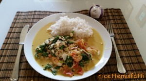 prawn and spinach curry