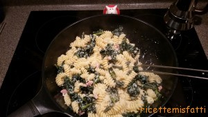 pasta with cavolo nero, ricotta and pancetta
