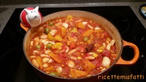 cinnamon spiced squash and butter bean stew