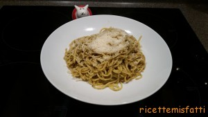 porcini, parsley and pine nut pasta